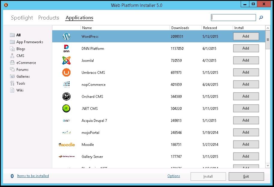 How do I install WordPress on windows server 2012