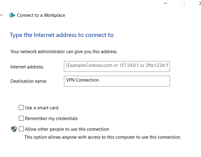 Setup VPN connection on Local PC